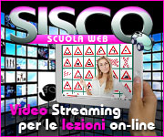 Sisco Scuola Web - Video Streaming per le lezioni on-line